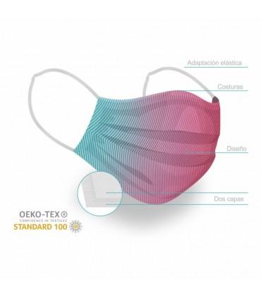 Mascarilla lavable OEKO-TEX Premium adulto Pity